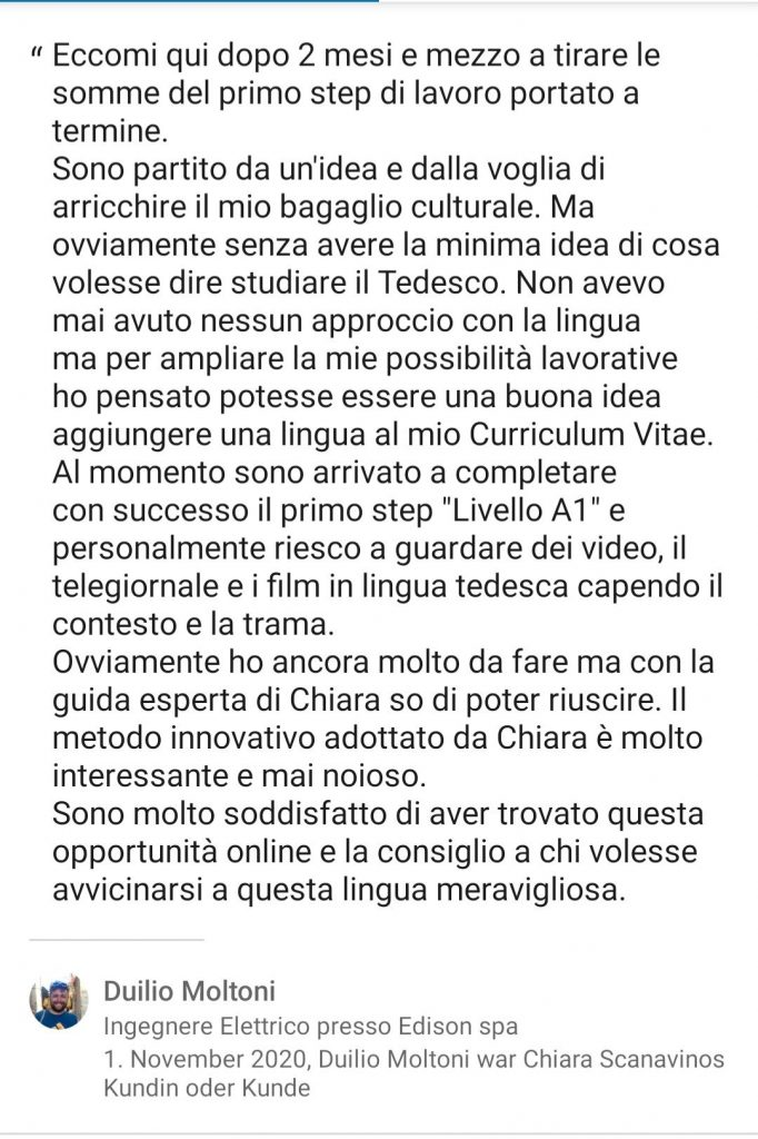 Testimonianza Duilio Moltoni